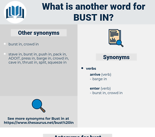 bust in, synonym bust in, another word for bust in, words like bust in, thesaurus bust in