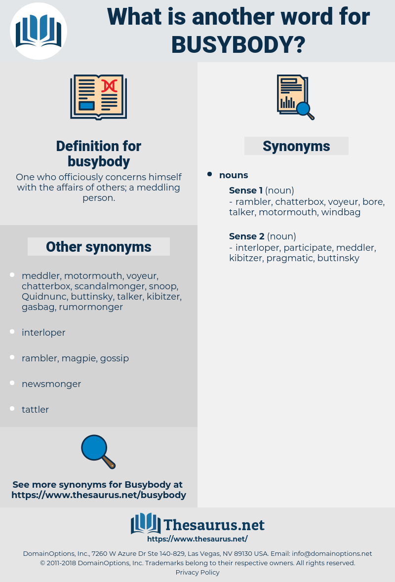 busybody, synonym busybody, another word for busybody, words like busybody, thesaurus busybody