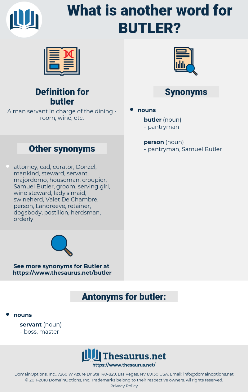 butler, synonym butler, another word for butler, words like butler, thesaurus butler