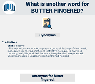 Butter-fingered, synonym Butter-fingered, another word for Butter-fingered, words like Butter-fingered, thesaurus Butter-fingered