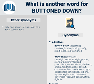 buttoned-down, synonym buttoned-down, another word for buttoned-down, words like buttoned-down, thesaurus buttoned-down