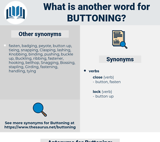 Buttoning, synonym Buttoning, another word for Buttoning, words like Buttoning, thesaurus Buttoning