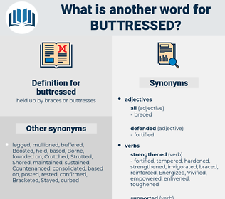 buttressed, synonym buttressed, another word for buttressed, words like buttressed, thesaurus buttressed