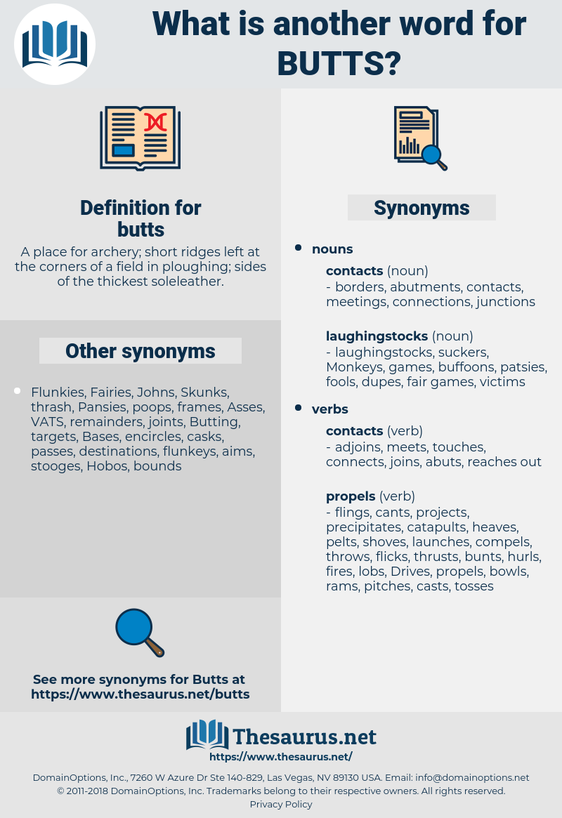 butts, synonym butts, another word for butts, words like butts, thesaurus butts