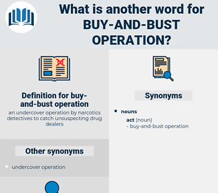 buy-and-bust operation, synonym buy-and-bust operation, another word for buy-and-bust operation, words like buy-and-bust operation, thesaurus buy-and-bust operation