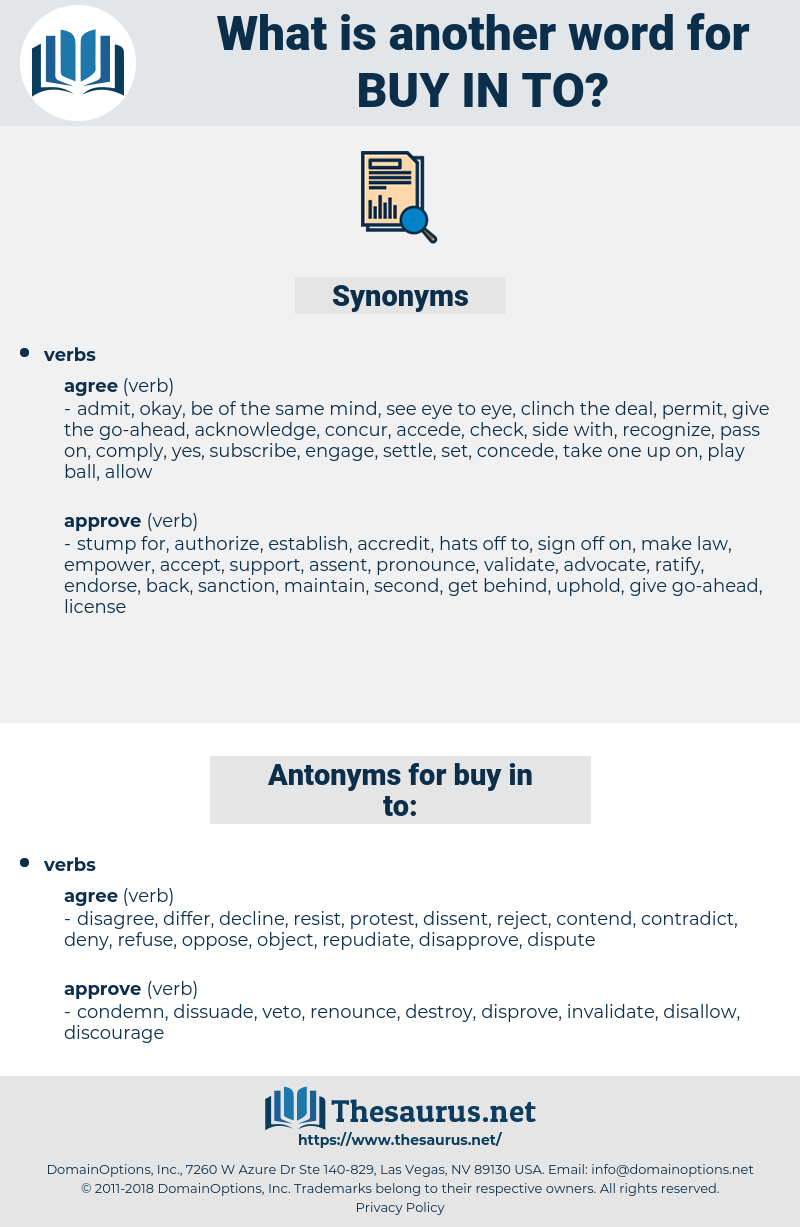 buy in to, synonym buy in to, another word for buy in to, words like buy in to, thesaurus buy in to