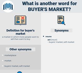 buyer's market, synonym buyer's market, another word for buyer's market, words like buyer's market, thesaurus buyer's market