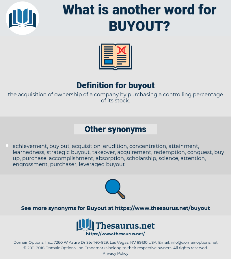 buyout, synonym buyout, another word for buyout, words like buyout, thesaurus buyout