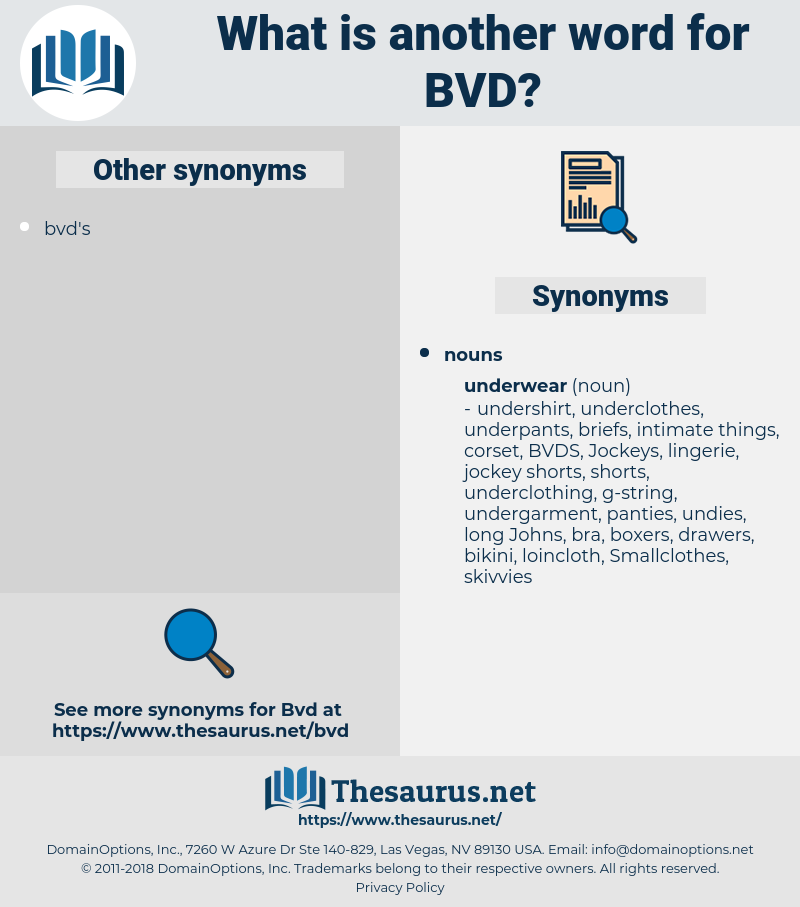 BVD, synonym BVD, another word for BVD, words like BVD, thesaurus BVD