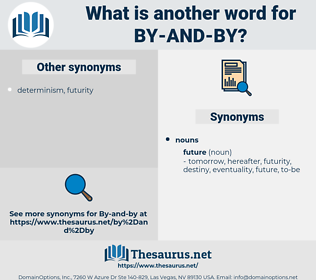 by and by, synonym by and by, another word for by and by, words like by and by, thesaurus by and by