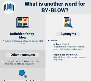 by-blow, synonym by-blow, another word for by-blow, words like by-blow, thesaurus by-blow