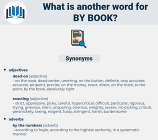 by book, synonym by book, another word for by book, words like by book, thesaurus by book