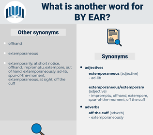 by ear, synonym by ear, another word for by ear, words like by ear, thesaurus by ear