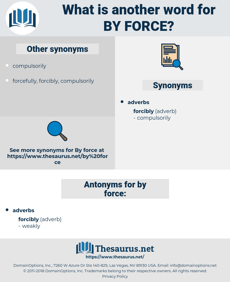 by force, synonym by force, another word for by force, words like by force, thesaurus by force