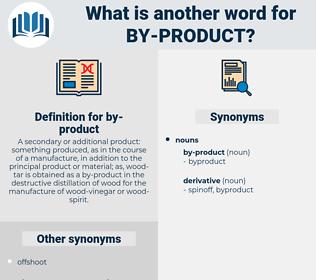 by product, synonym by product, another word for by product, words like by product, thesaurus by product