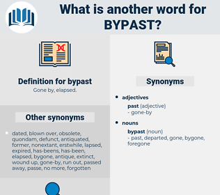 bypast, synonym bypast, another word for bypast, words like bypast, thesaurus bypast
