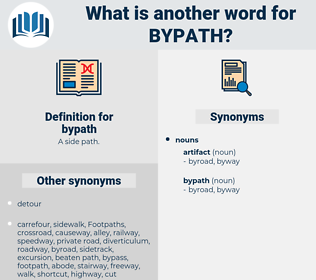 bypath, synonym bypath, another word for bypath, words like bypath, thesaurus bypath