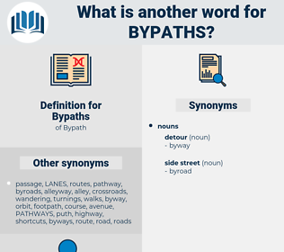 Bypaths, synonym Bypaths, another word for Bypaths, words like Bypaths, thesaurus Bypaths