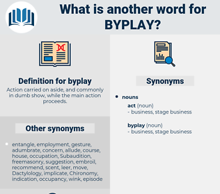 byplay, synonym byplay, another word for byplay, words like byplay, thesaurus byplay