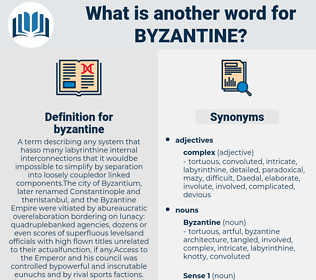 byzantine, synonym byzantine, another word for byzantine, words like byzantine, thesaurus byzantine
