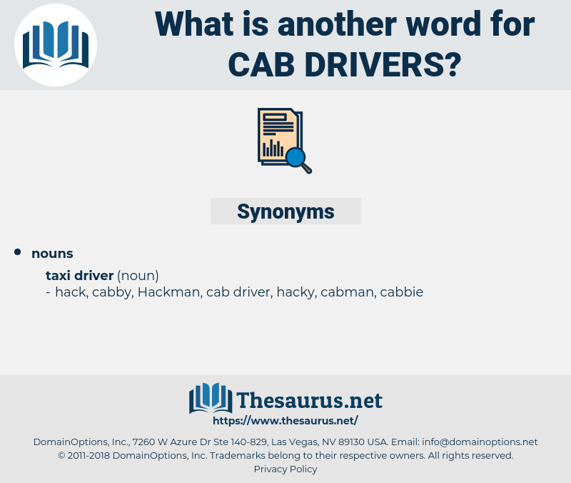 cab drivers, synonym cab drivers, another word for cab drivers, words like cab drivers, thesaurus cab drivers