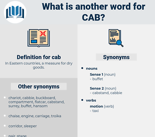 cab, synonym cab, another word for cab, words like cab, thesaurus cab