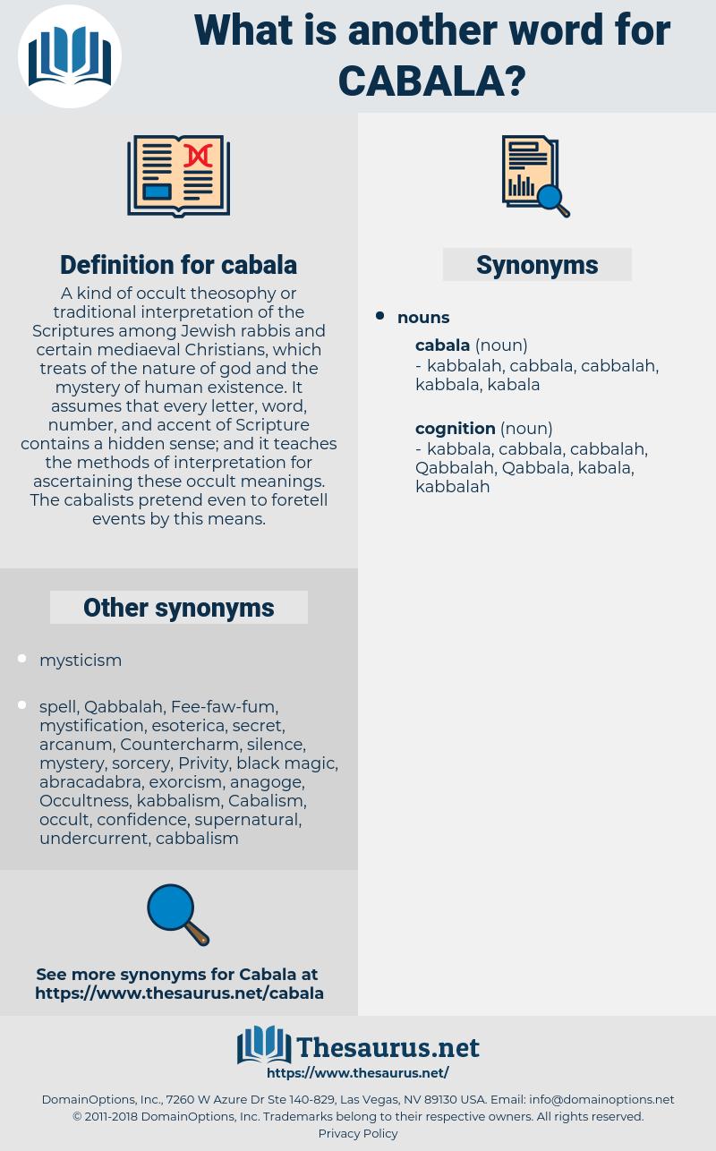 cabala, synonym cabala, another word for cabala, words like cabala, thesaurus cabala
