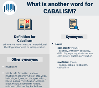 Cabalism, synonym Cabalism, another word for Cabalism, words like Cabalism, thesaurus Cabalism