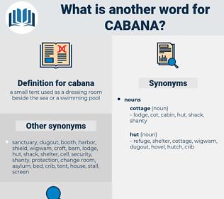 cabana, synonym cabana, another word for cabana, words like cabana, thesaurus cabana