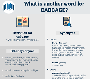 cabbage, synonym cabbage, another word for cabbage, words like cabbage, thesaurus cabbage