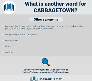 cabbagetown, synonym cabbagetown, another word for cabbagetown, words like cabbagetown, thesaurus cabbagetown