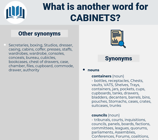 cabinets, synonym cabinets, another word for cabinets, words like cabinets, thesaurus cabinets