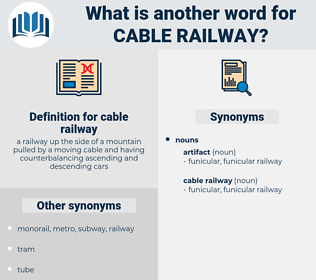 cable railway, synonym cable railway, another word for cable railway, words like cable railway, thesaurus cable railway