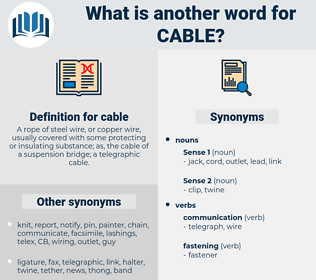 cable, synonym cable, another word for cable, words like cable, thesaurus cable