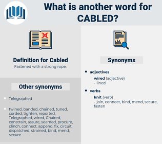 Cabled, synonym Cabled, another word for Cabled, words like Cabled, thesaurus Cabled