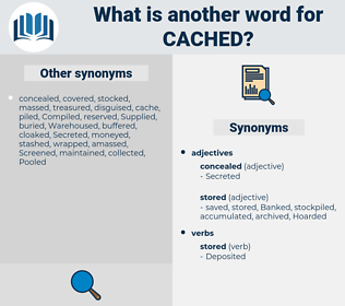 cached, synonym cached, another word for cached, words like cached, thesaurus cached