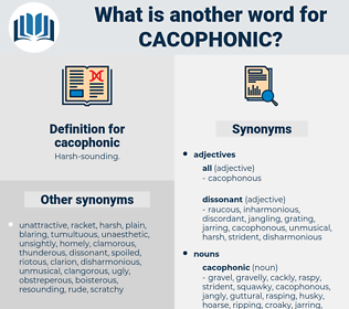 cacophonic, synonym cacophonic, another word for cacophonic, words like cacophonic, thesaurus cacophonic