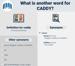 caddy, synonym caddy, another word for caddy, words like caddy, thesaurus caddy