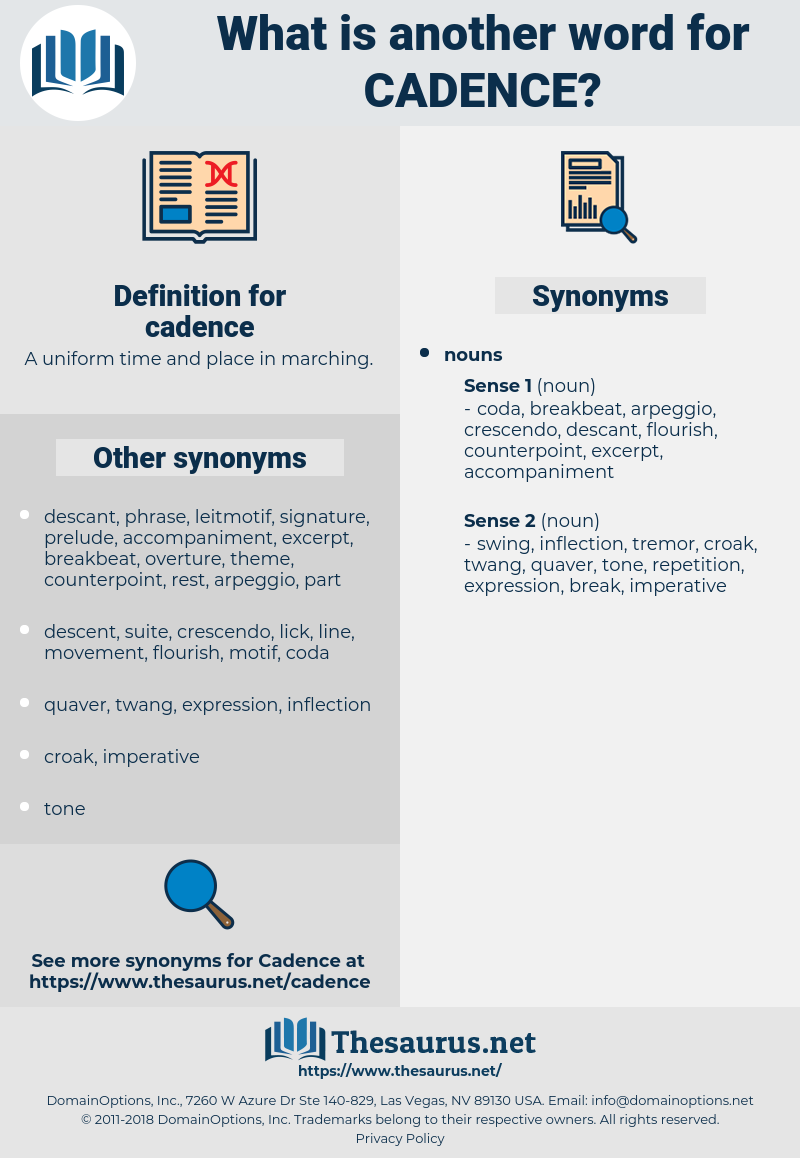 Synonyms for CADENCE - Thesaurus net