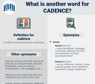cadence, synonym cadence, another word for cadence, words like cadence, thesaurus cadence