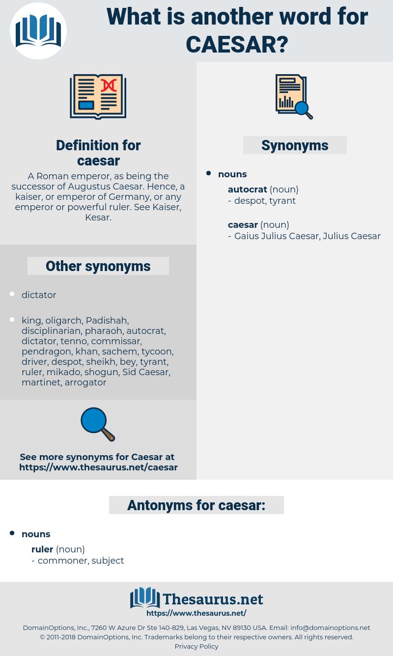 caesar, synonym caesar, another word for caesar, words like caesar, thesaurus caesar