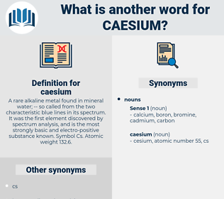 caesium, synonym caesium, another word for caesium, words like caesium, thesaurus caesium
