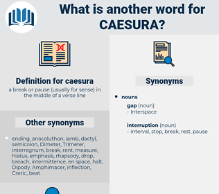 caesura, synonym caesura, another word for caesura, words like caesura, thesaurus caesura