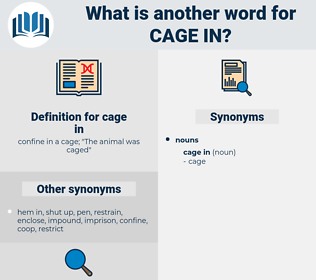 cage in, synonym cage in, another word for cage in, words like cage in, thesaurus cage in