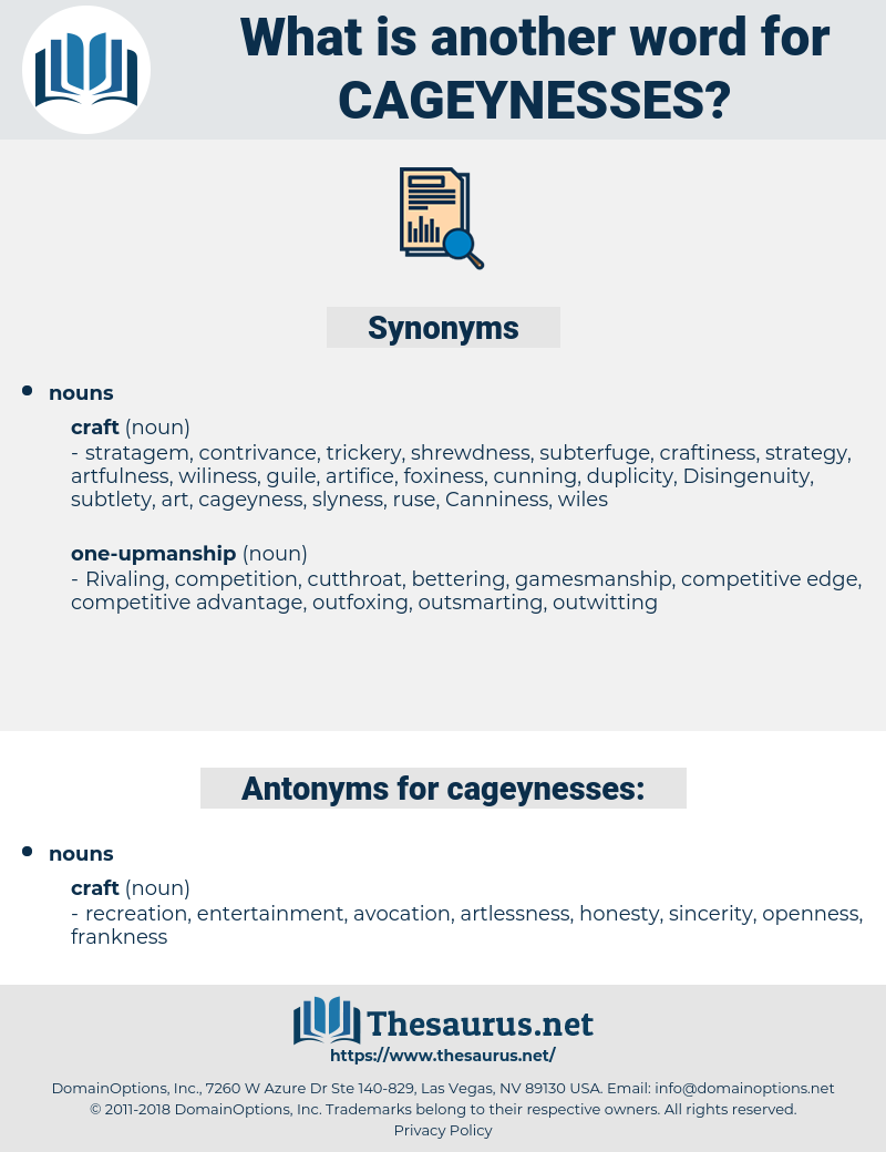 cageynesses, synonym cageynesses, another word for cageynesses, words like cageynesses, thesaurus cageynesses