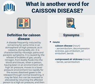 caisson disease, synonym caisson disease, another word for caisson disease, words like caisson disease, thesaurus caisson disease