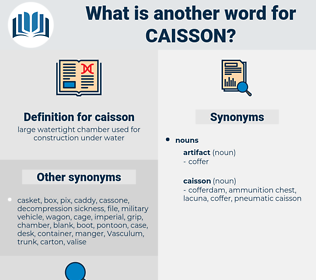 caisson, synonym caisson, another word for caisson, words like caisson, thesaurus caisson