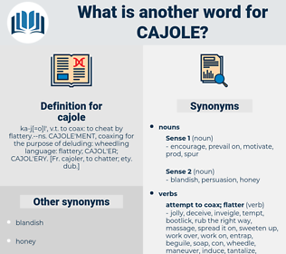 cajole, synonym cajole, another word for cajole, words like cajole, thesaurus cajole