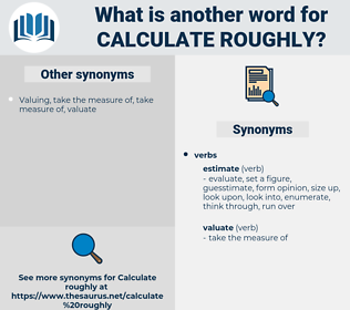 calculate roughly, synonym calculate roughly, another word for calculate roughly, words like calculate roughly, thesaurus calculate roughly