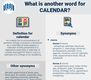 calendar, synonym calendar, another word for calendar, words like calendar, thesaurus calendar